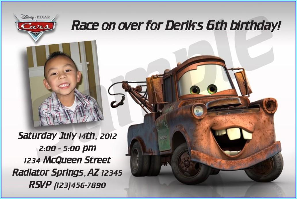 Custom Cars Birthday Invitations