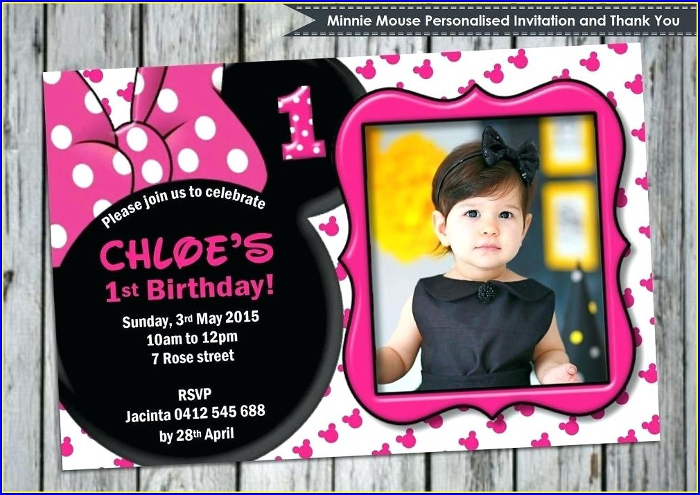 Custom Minnie Mouse Invitations Free