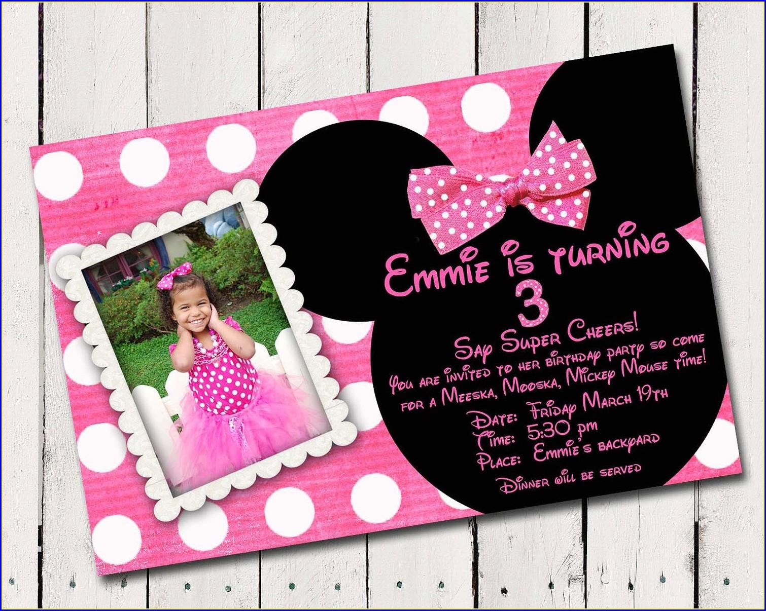 Custom Minnie Mouse Invitations