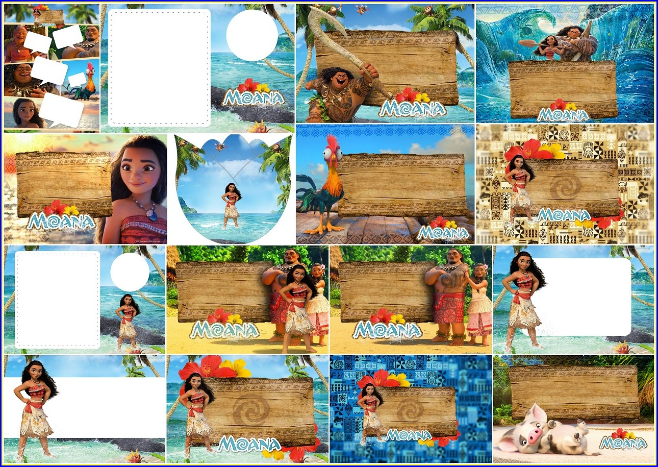 Custom Moana Invitations Free