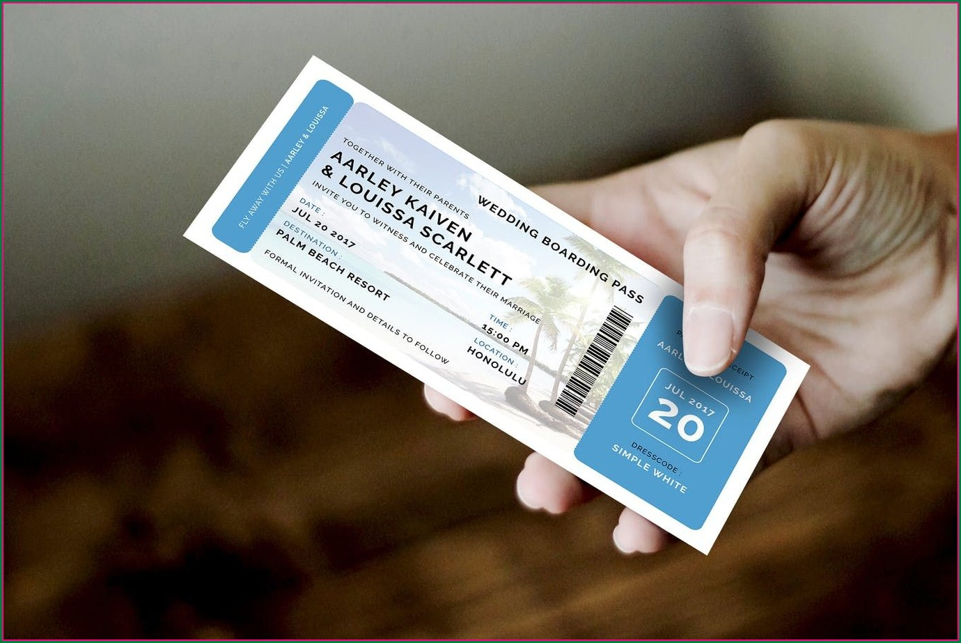 Customizable Boarding Pass Invitation Template