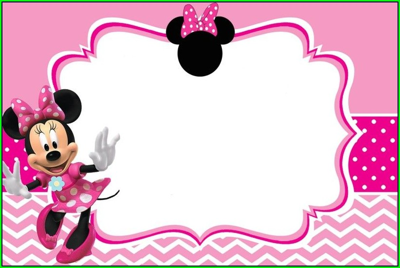 Customizable Downloadable Minnie Mouse Invitation Template