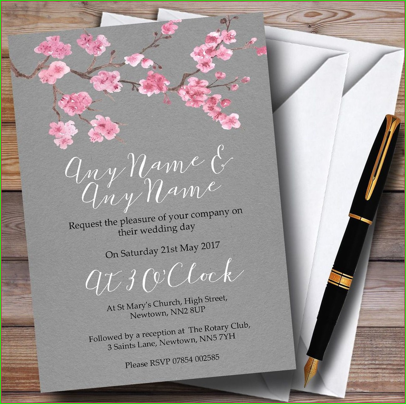 Dark Grey Wedding Invitations