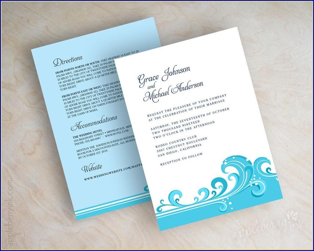 Dark Teal Wedding Invitations