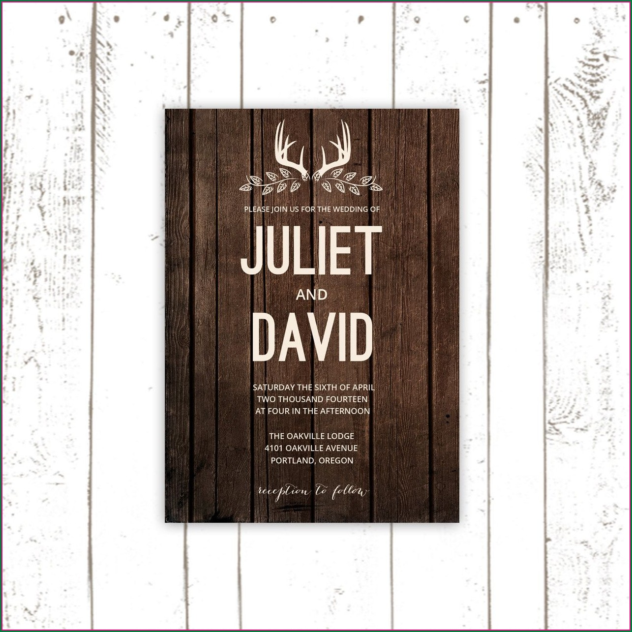 Deer Antler Wedding Invitations