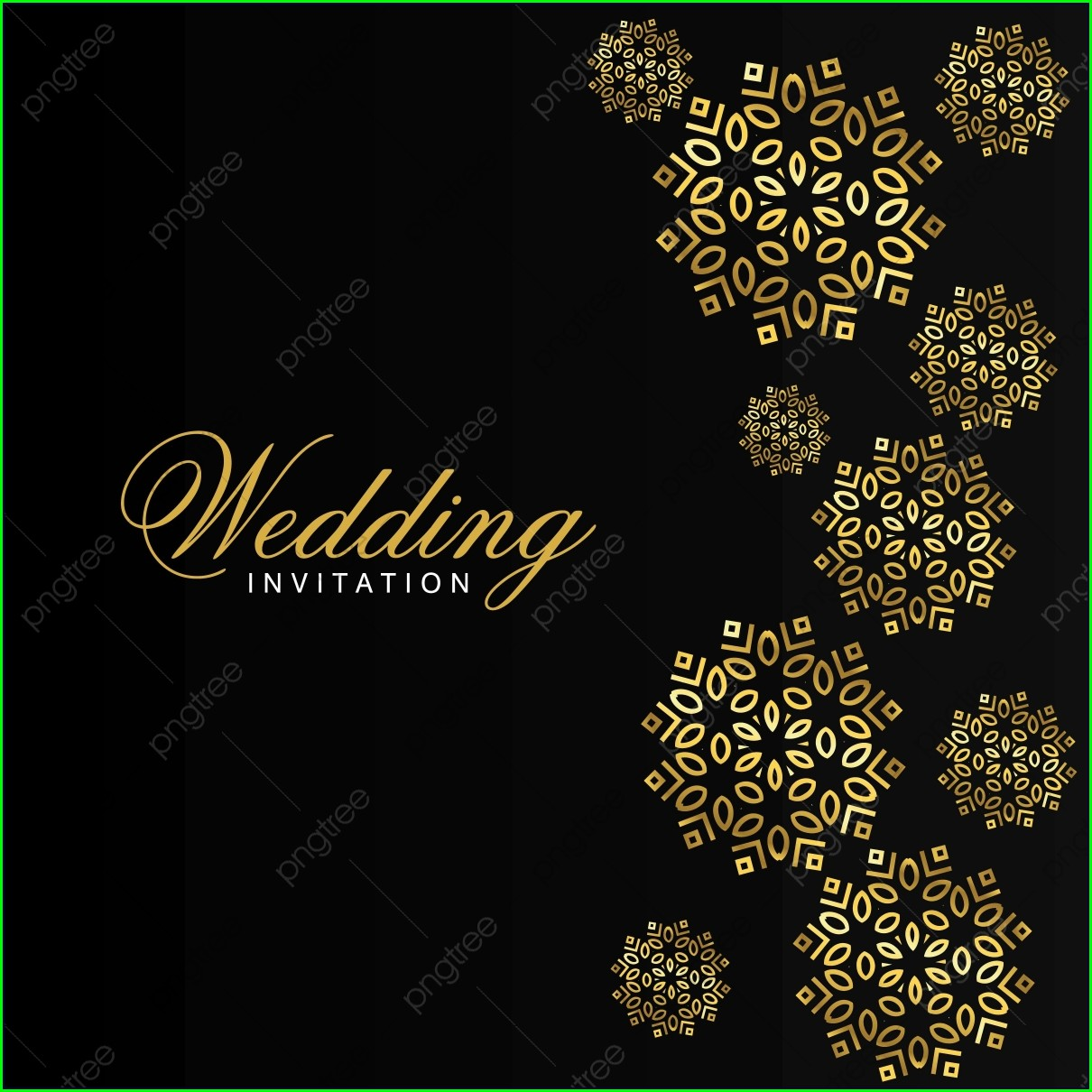 Design Wedding Invitation Background Png