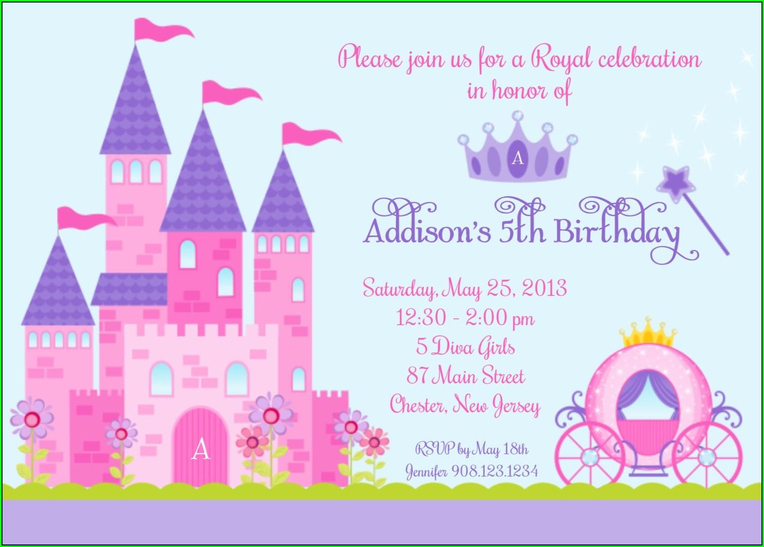 Disney Princess Wedding Invitations