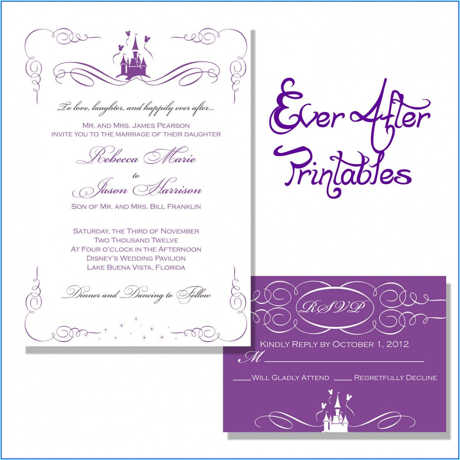 Disney Wedding Invitation Templates