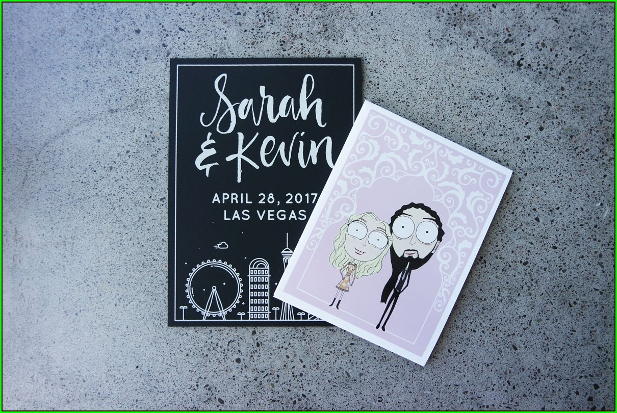 Diy Las Vegas Wedding Invitations