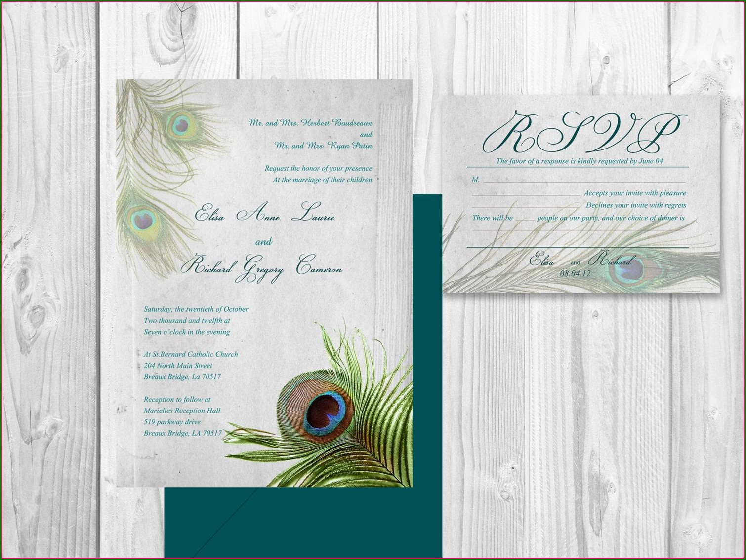 Diy Peacock Wedding Invitations