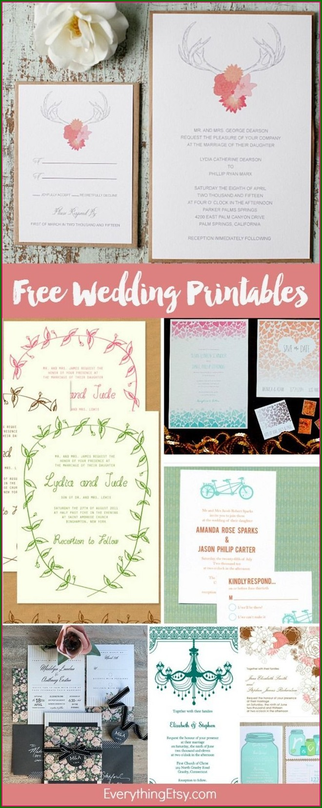 Diy Printable Invitation Kits