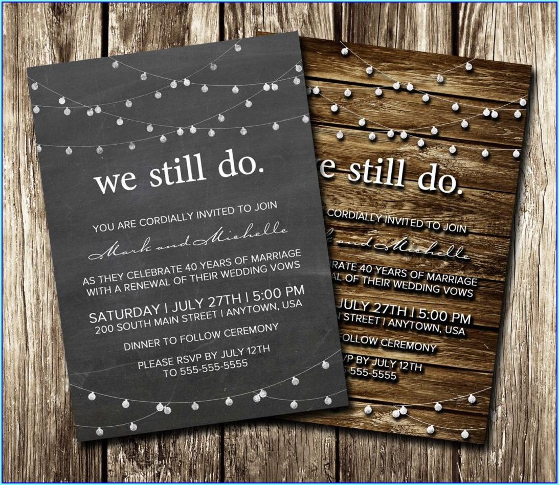 Diy Vow Renewal Invitations