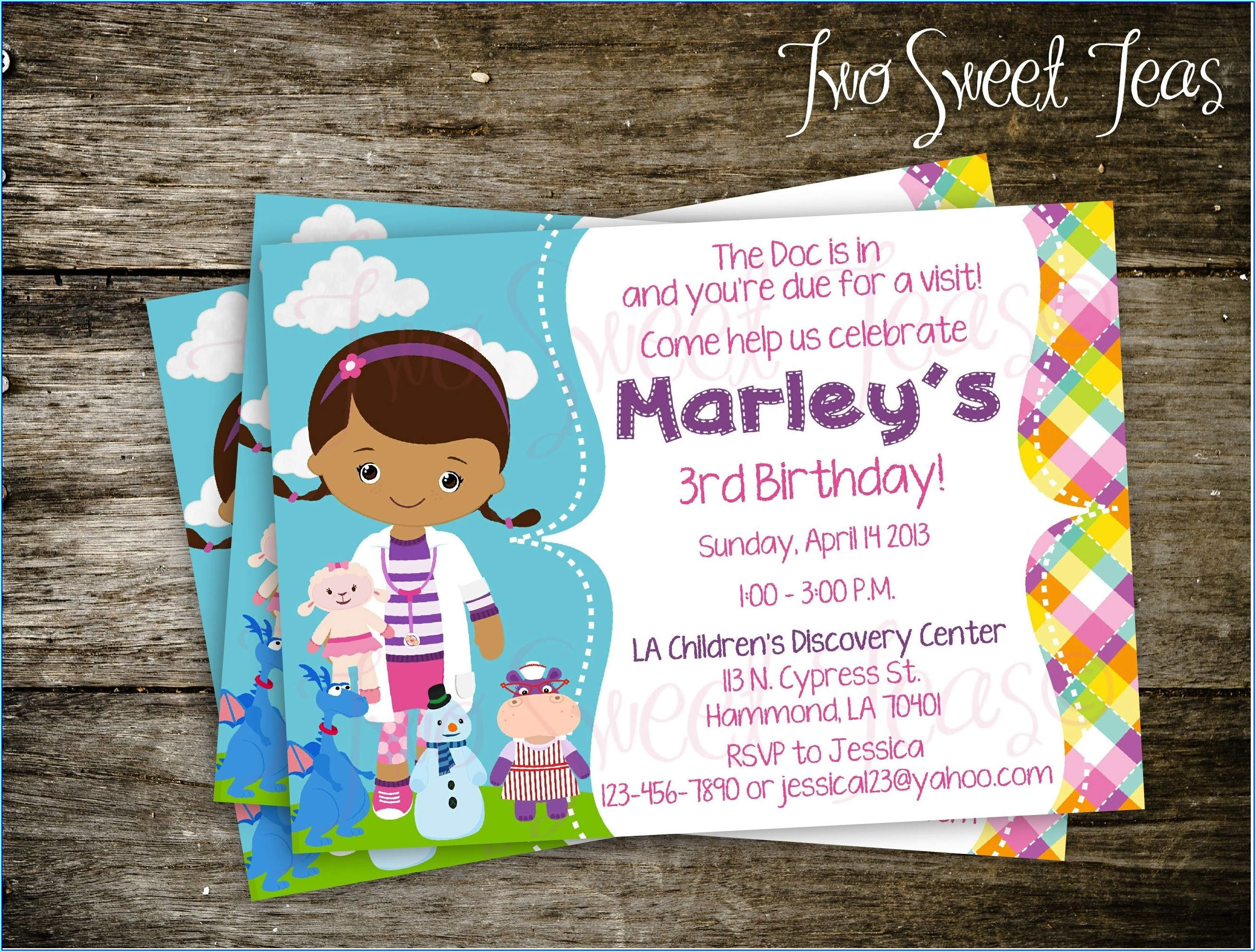 Doc Mcstuffins Birthday Invitations Printable