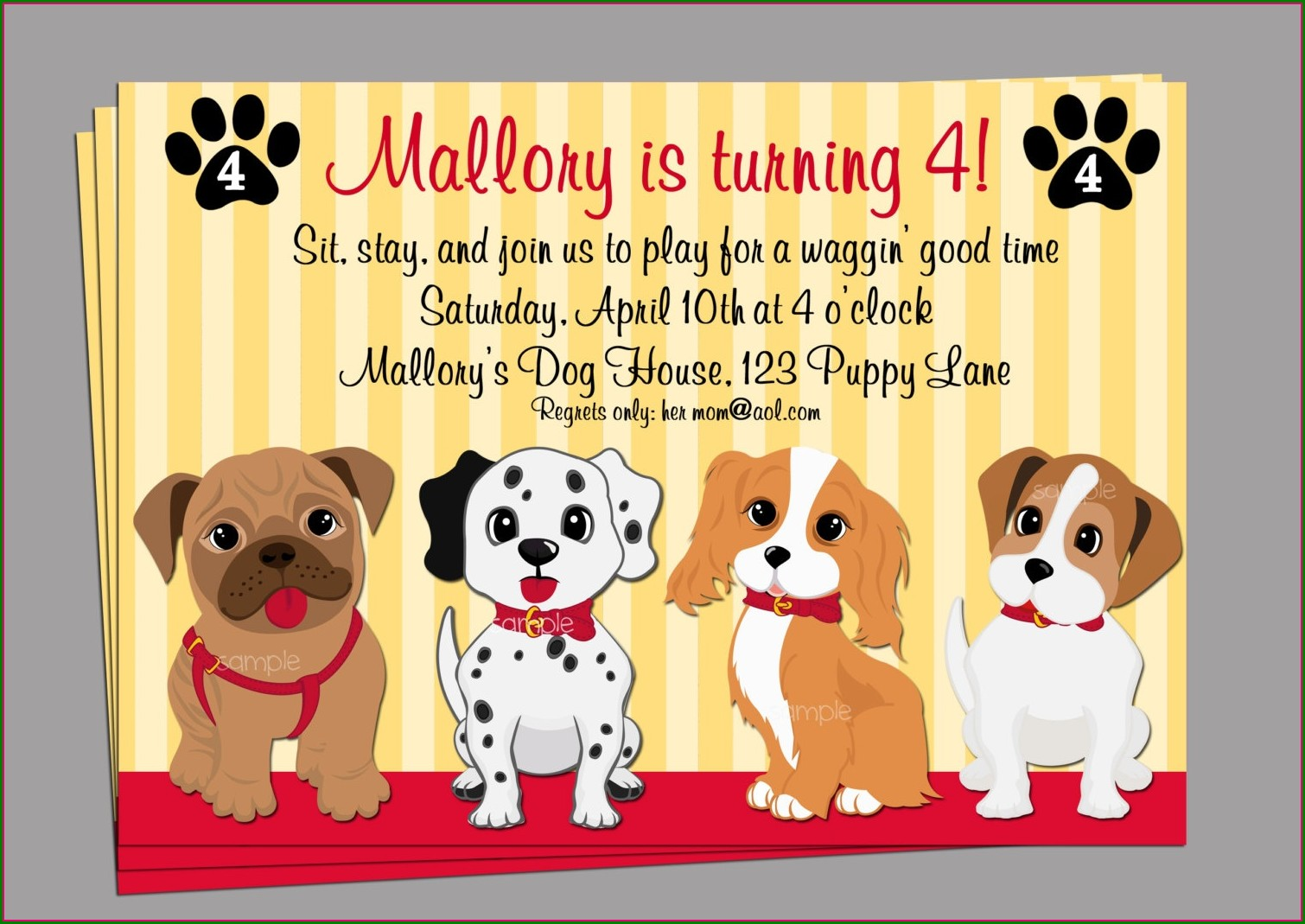 Dog Birthday Invitations Free Printable