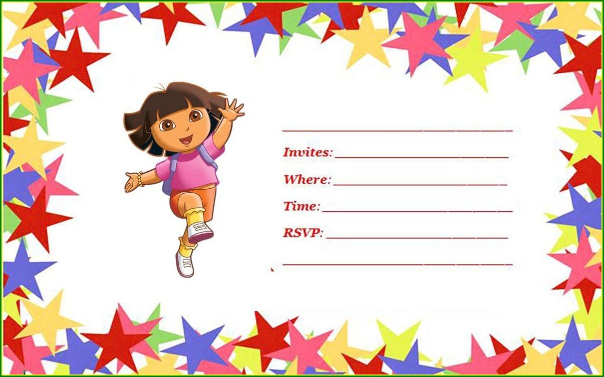 Dora The Explorer Birthday Invitations Templates Free
