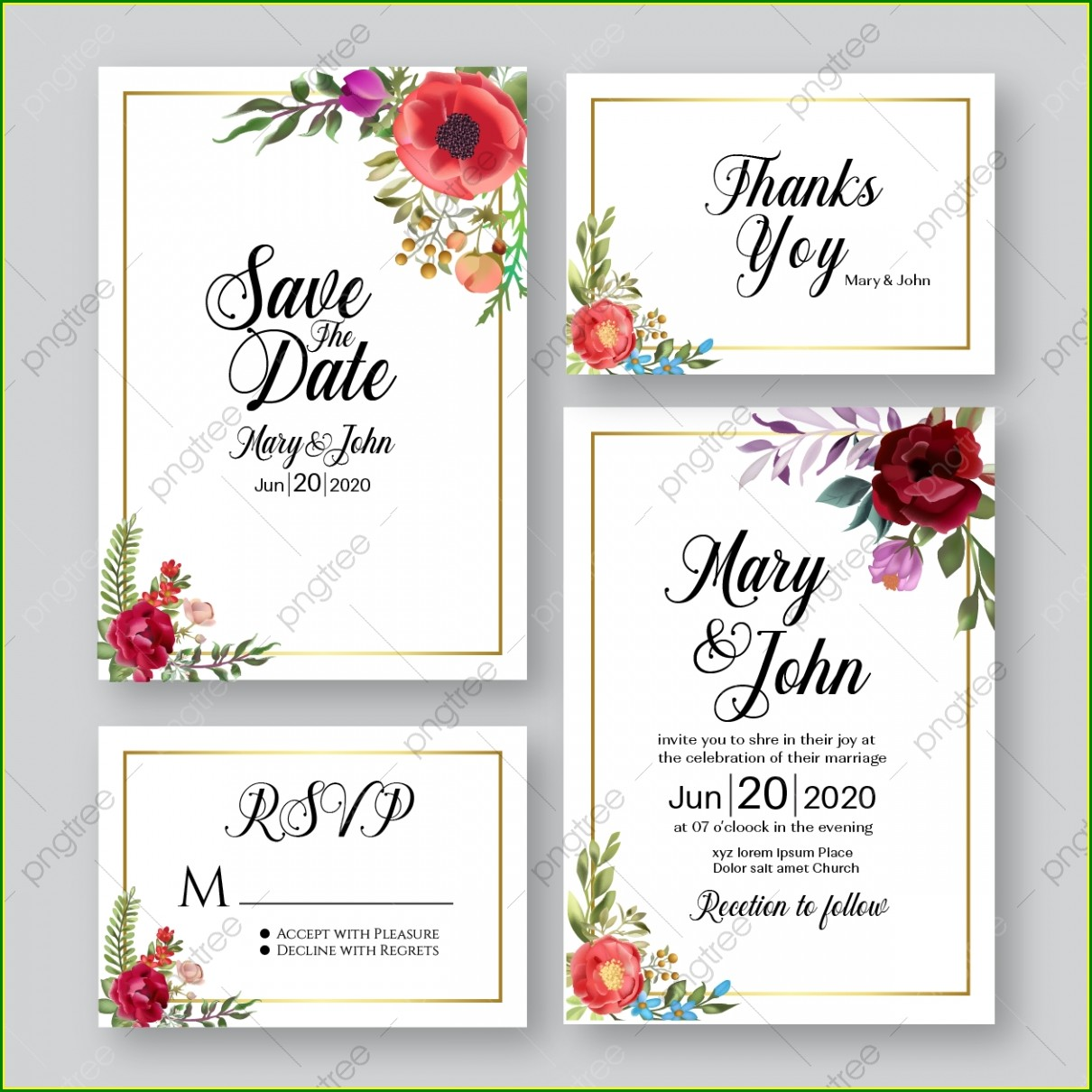 Downloadable Background Wedding Invitation Card Template