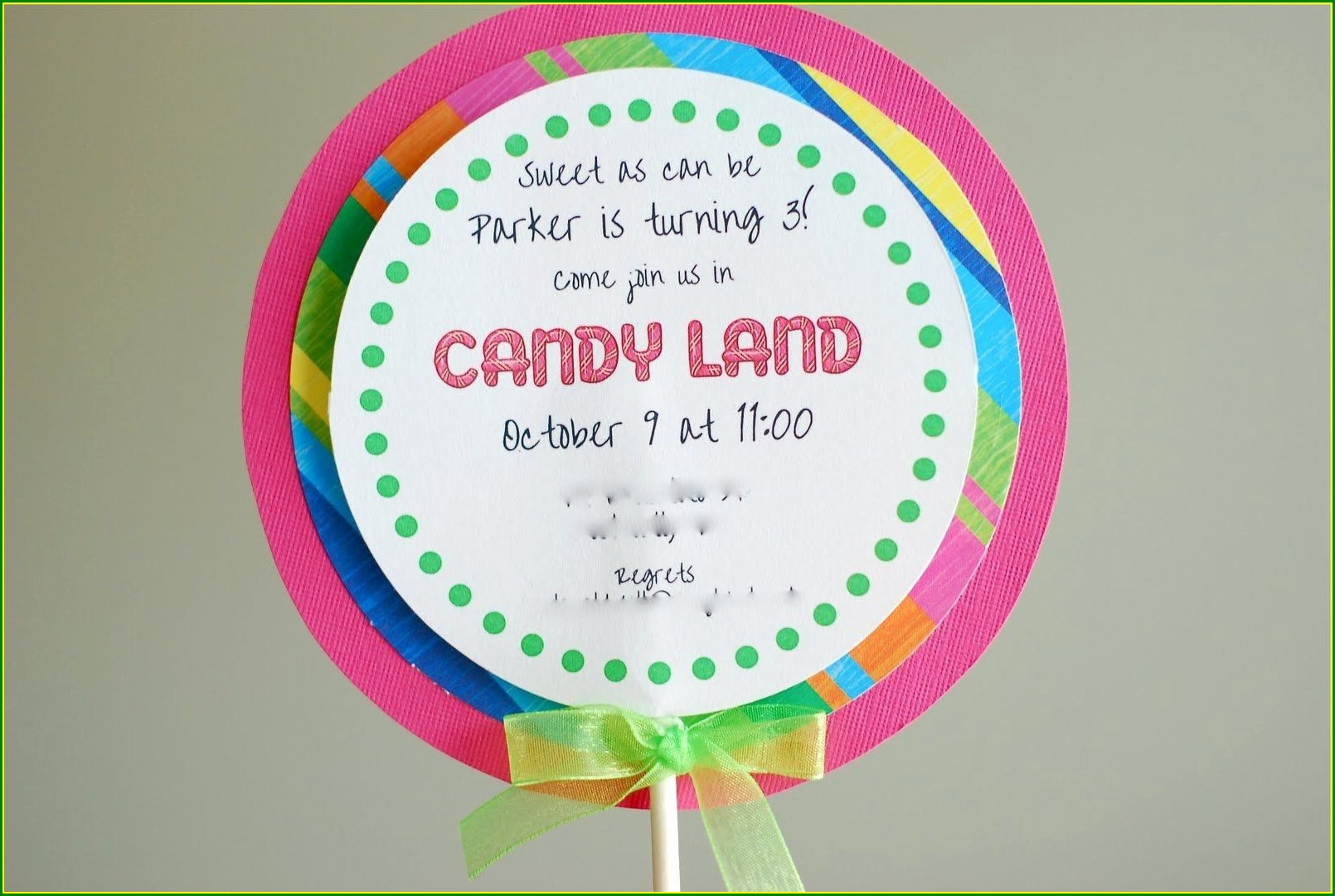 Downloadable Blank Candyland Invitation Free Template