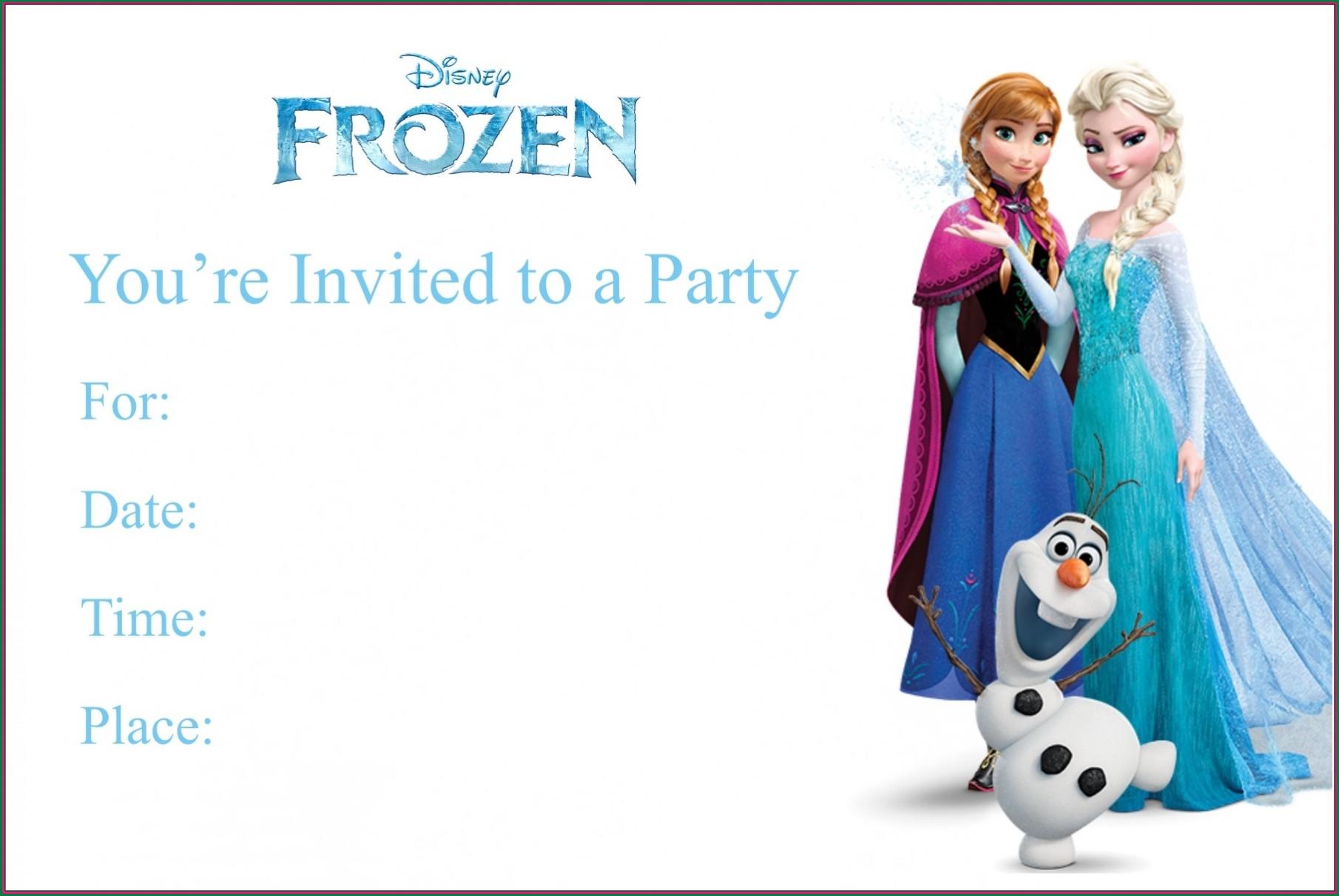 Downloadable Blank Frozen Invitation Template