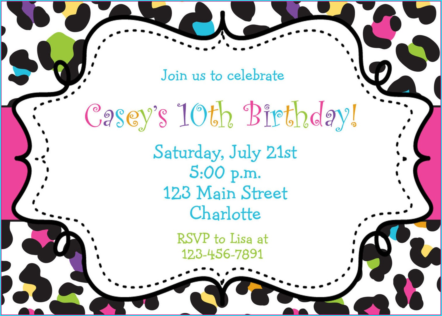 Downloadable Editable Free Birthday Invitation Templates