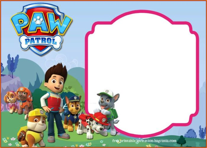 Downloadable Free Customizable Paw Patrol Invitations