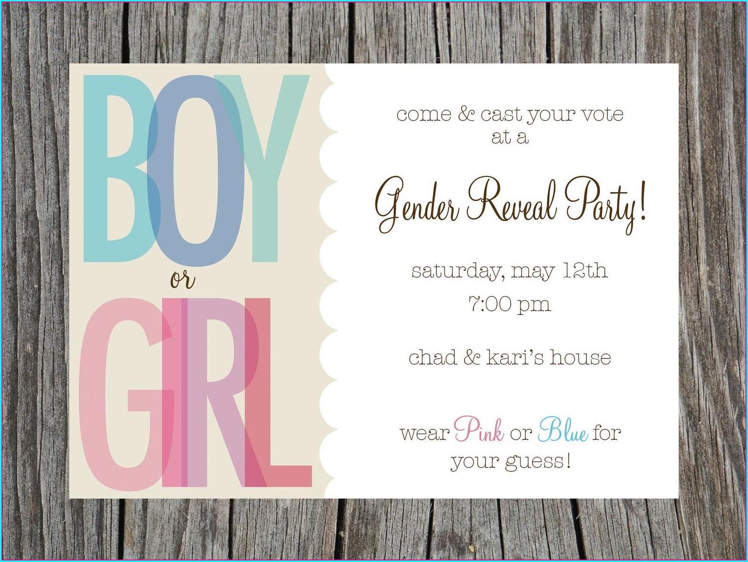 Downloadable Free Printable Gender Reveal Invitations