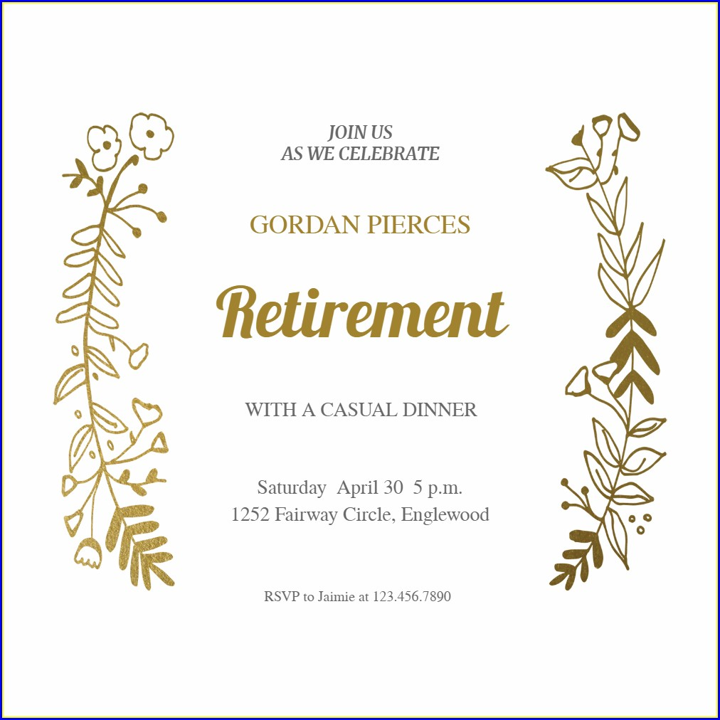 Downloadable Free Retirement Invitation Template