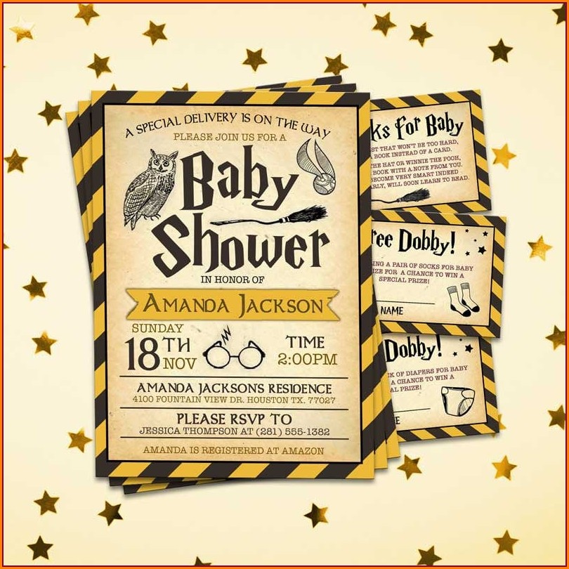 Downloadable Harry Potter Baby Shower Invitation Template Free