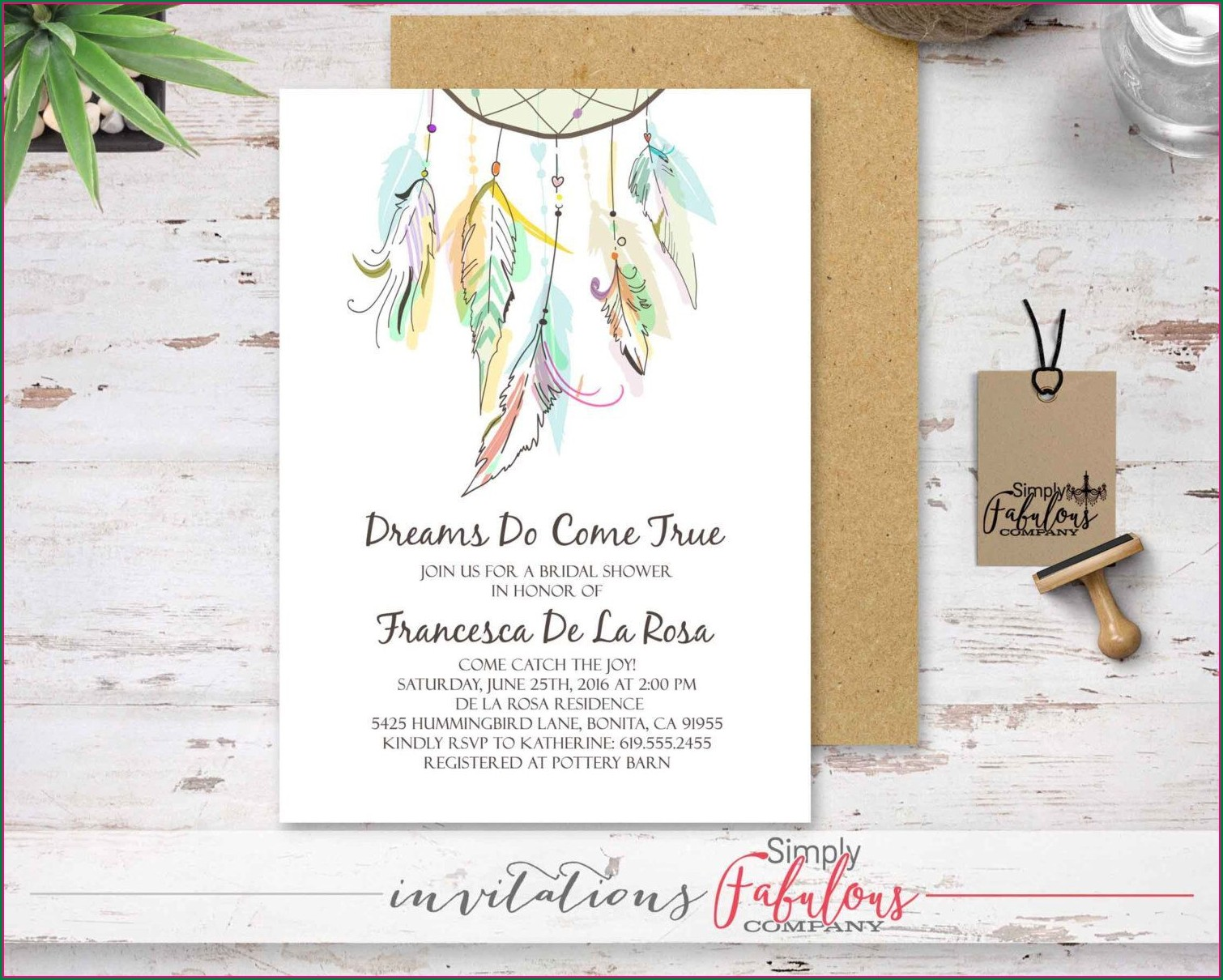 Dream Catcher Invitation Design