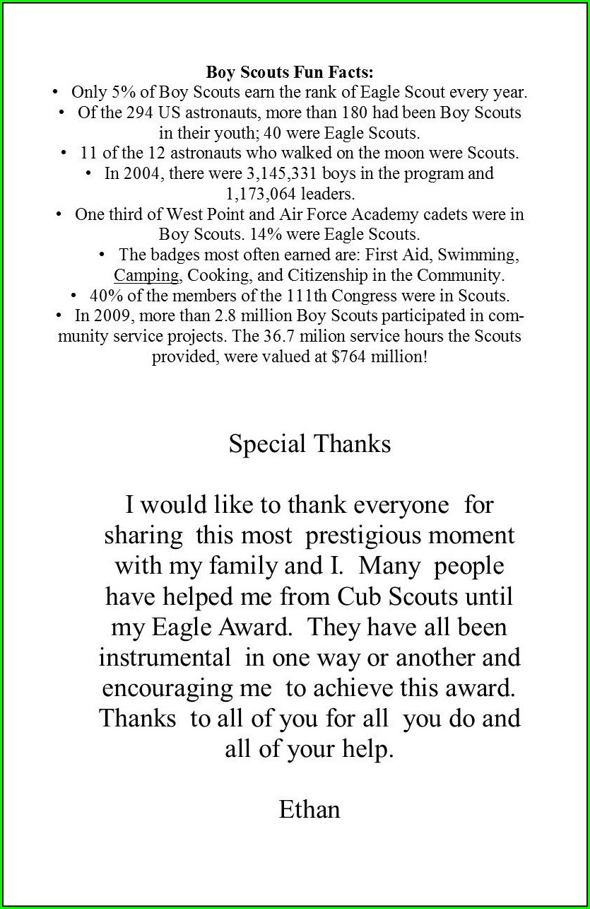 Eagle Scout Coh Invitations