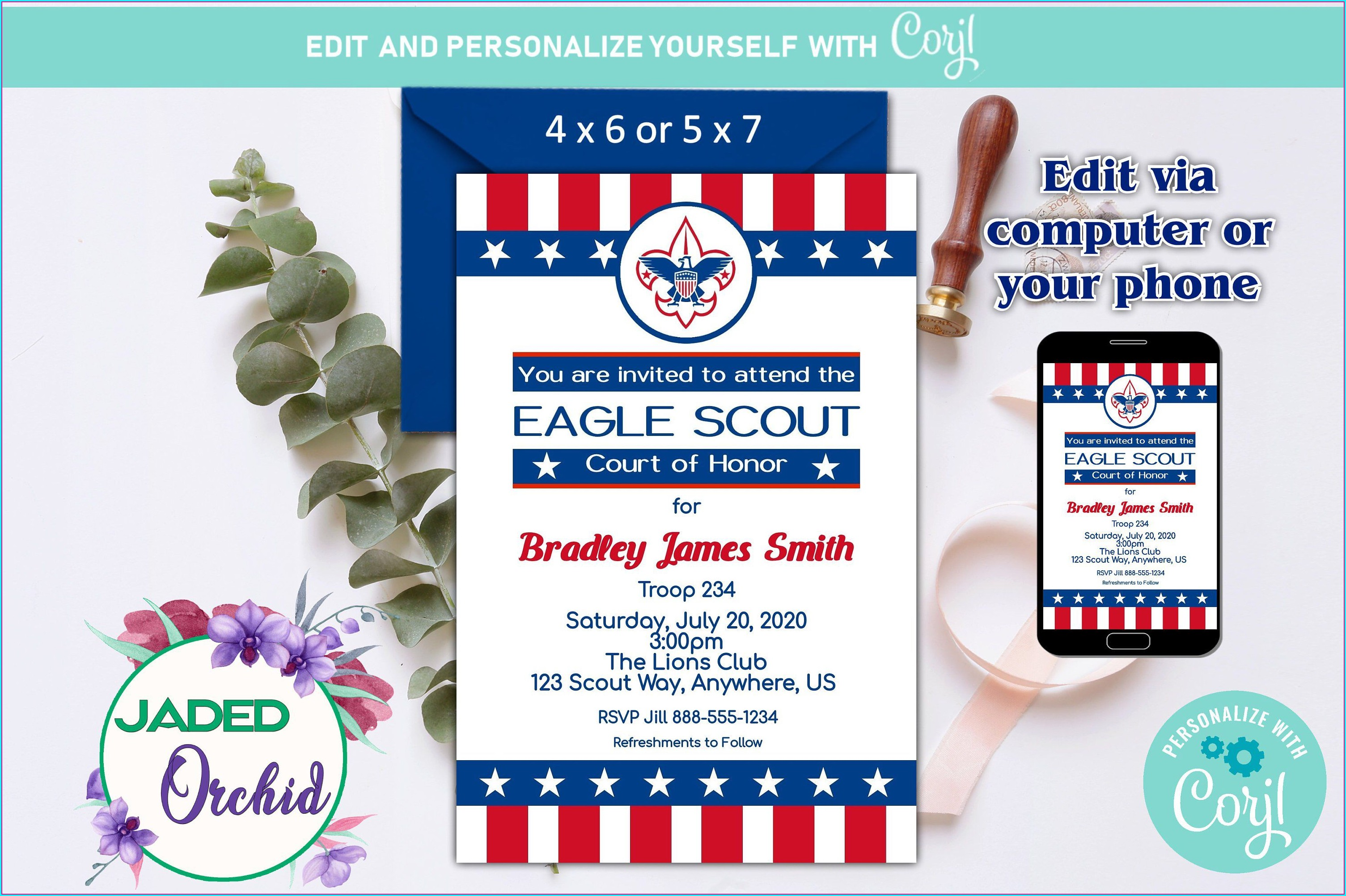 Eagle Scout Invitations Template