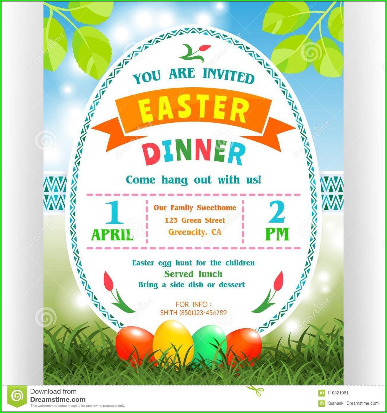 Easter Dinner Invitation Template