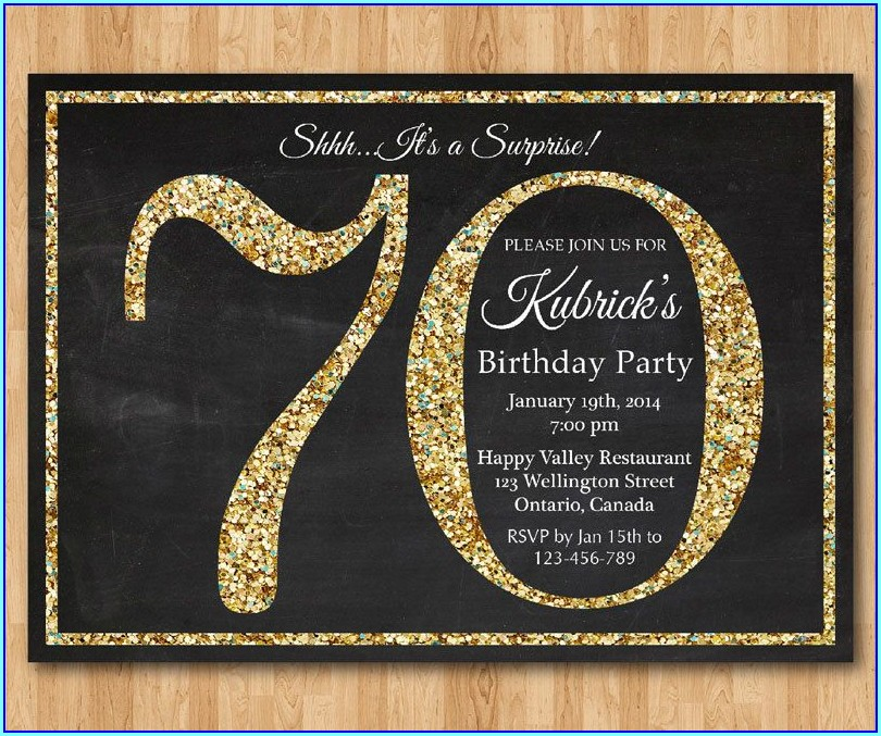 Editable 70th Birthday Invitation Templates