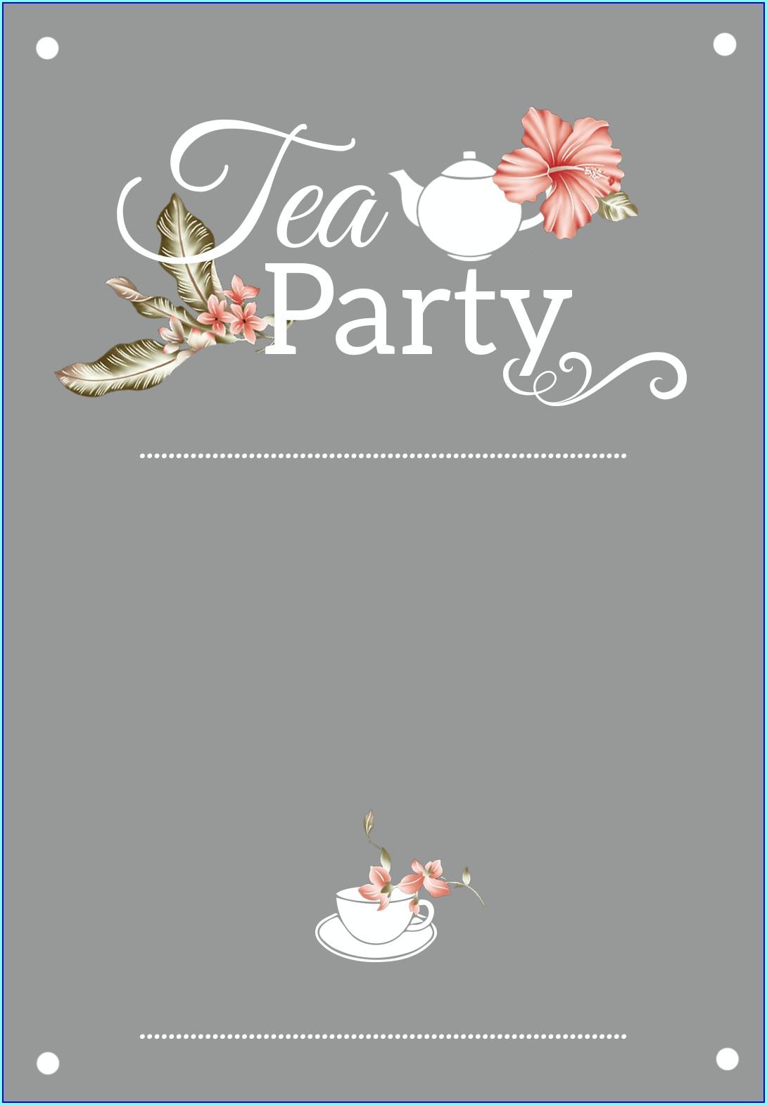 Editable Afternoon Tea Invitation Template Free