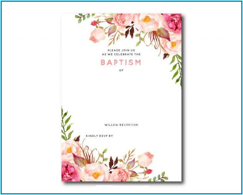 Editable Baptism Invitation Templates Free