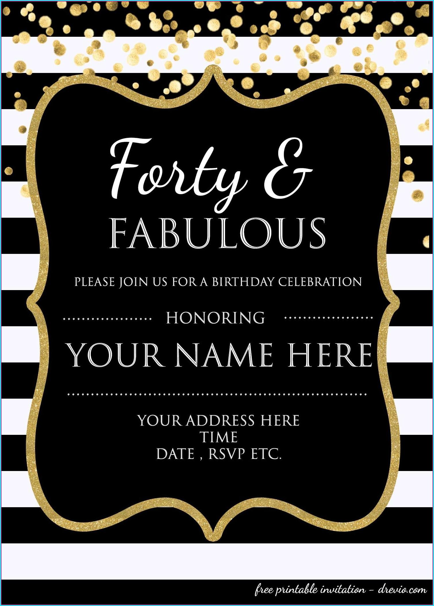 Editable Birthday Invitations Templates Free With Photo