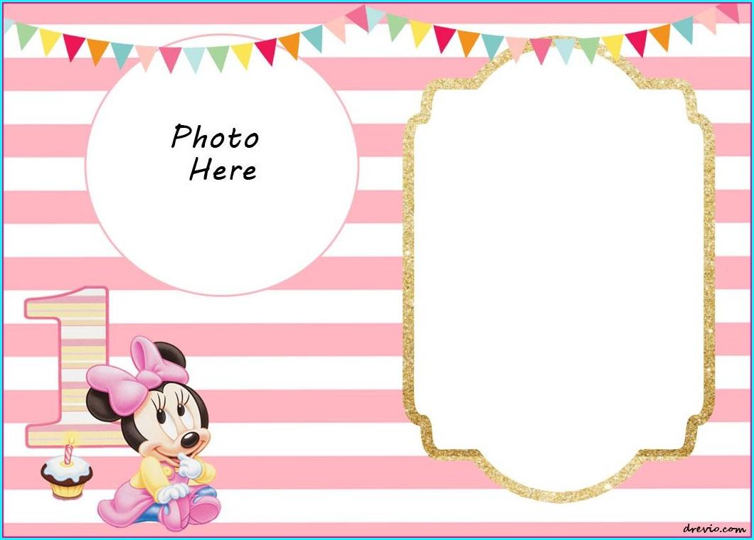 Editable Blank 1st Birthday Invitation Template
