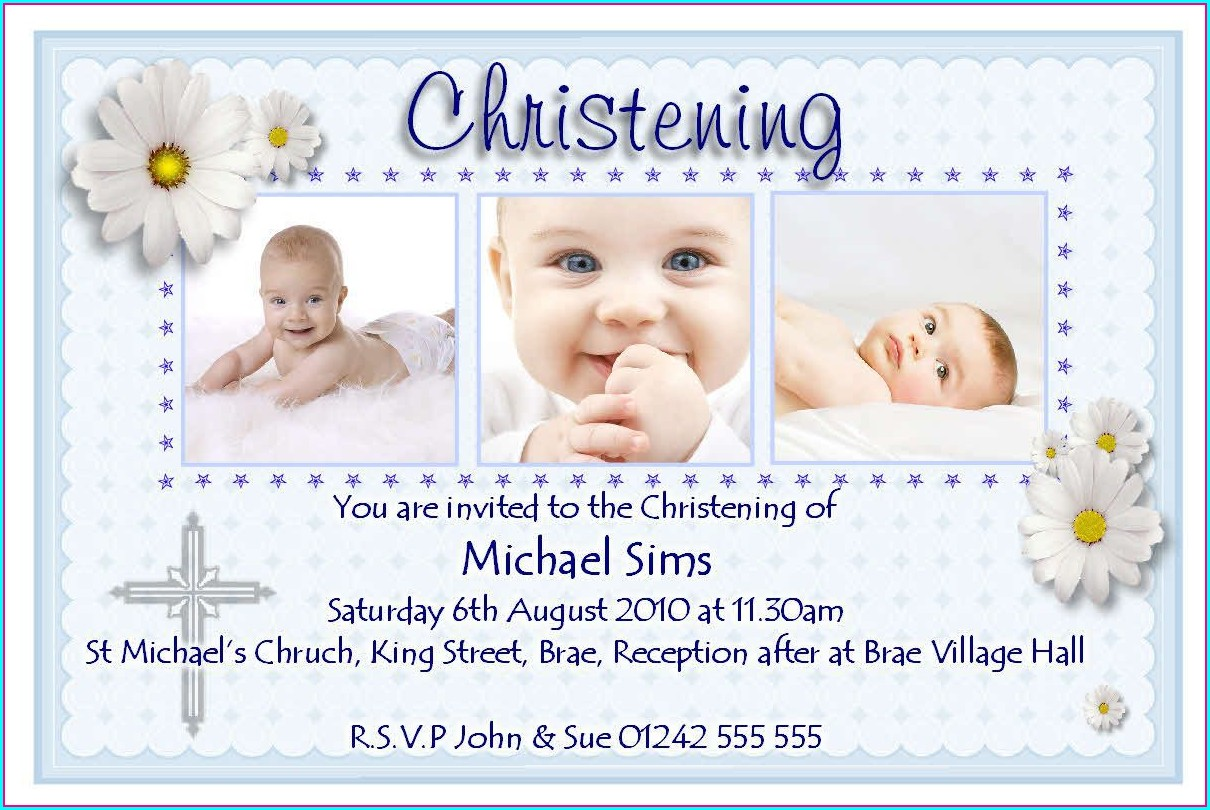 Editable Christening Invitation Templates Free Printable