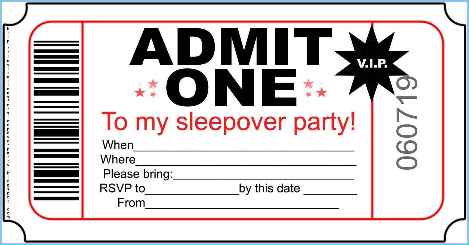 Editable Free Birthday Party Invitation Templates