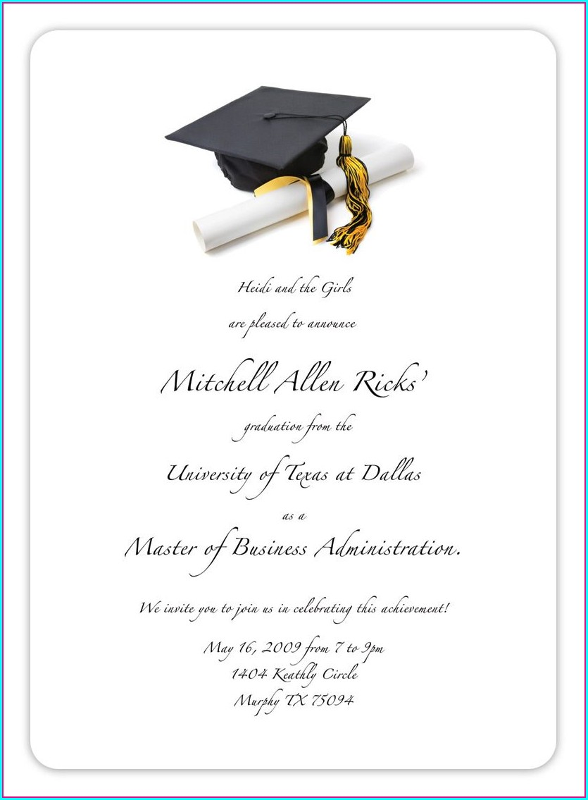 Editable Free Graduation Invitation Templates For Word