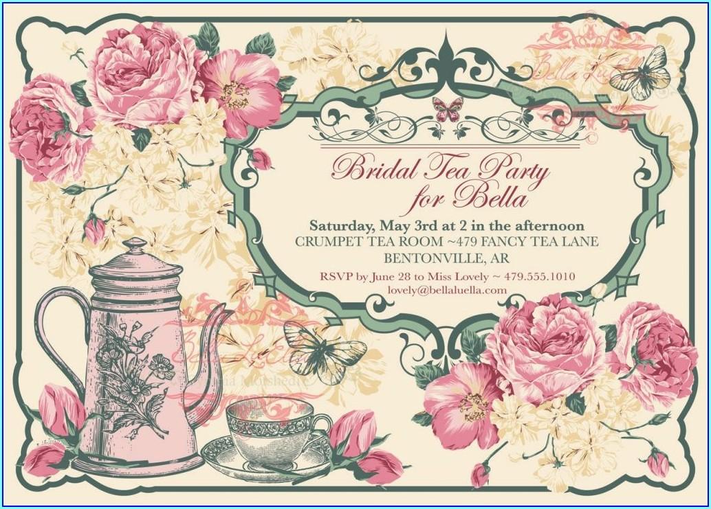 Editable Free High Tea Invitation Template