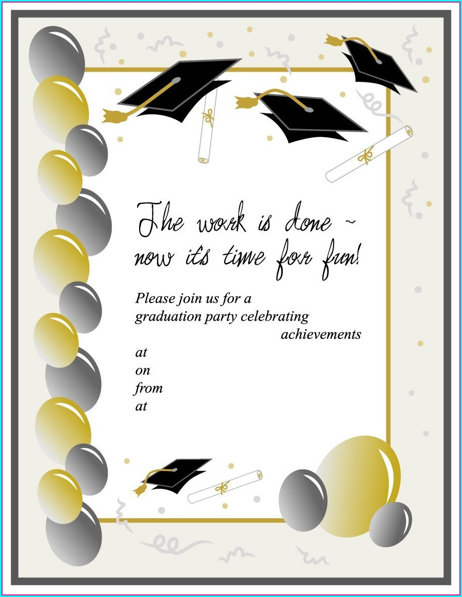 Editable Kindergarten Graduation Invitation Templates Free