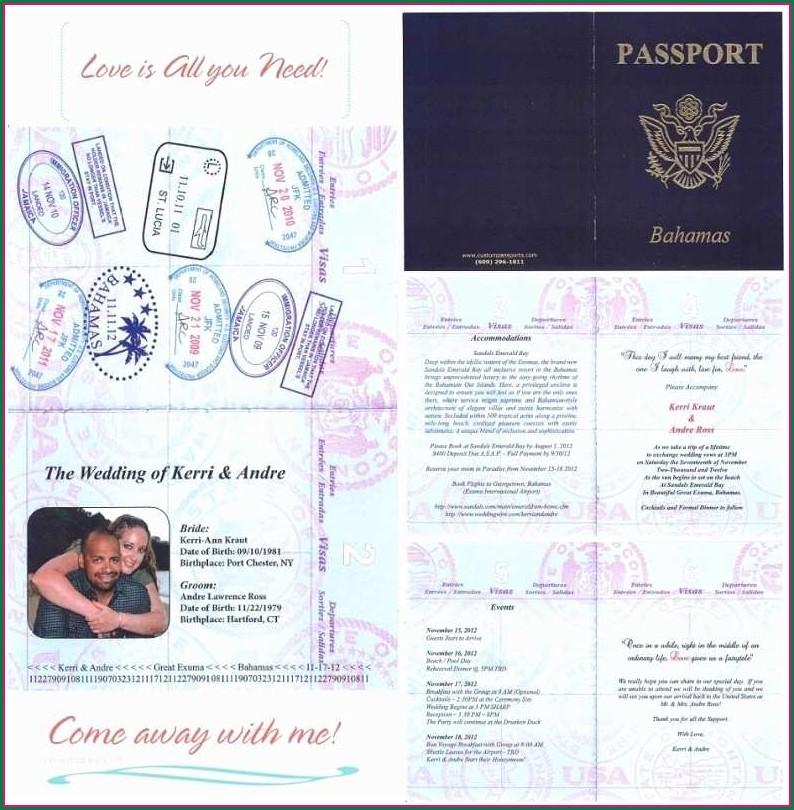 Editable Passport Invitation Template
