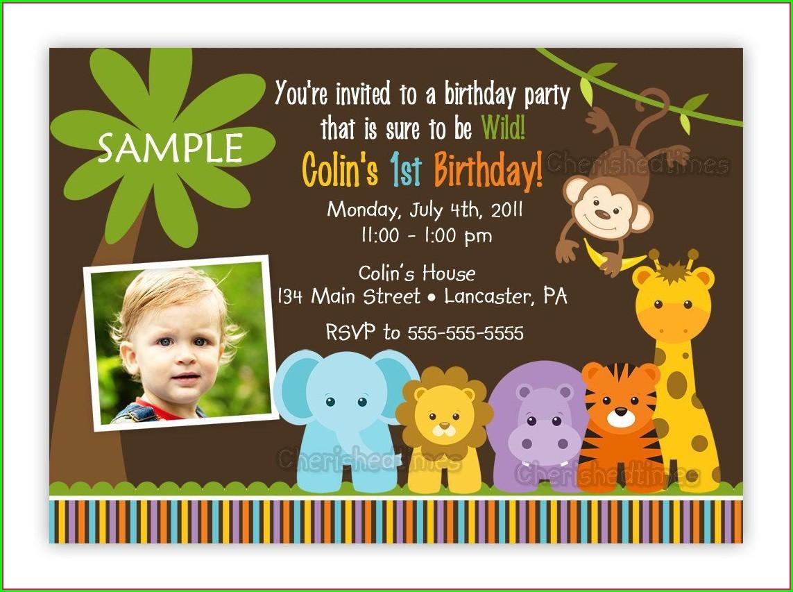 Editable Safari Birthday Invitation Template Free