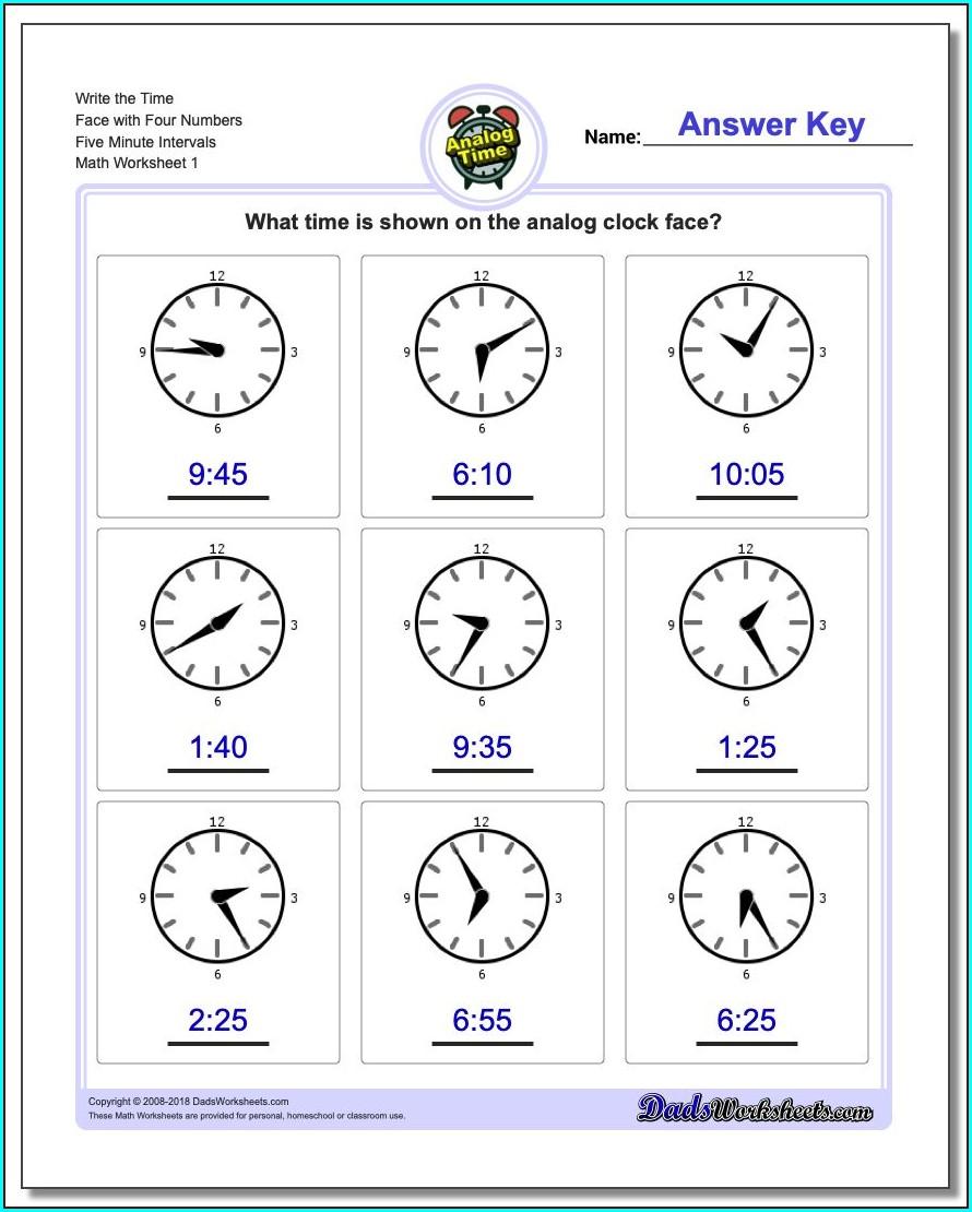 Elapsed Time Worksheets Grade 4