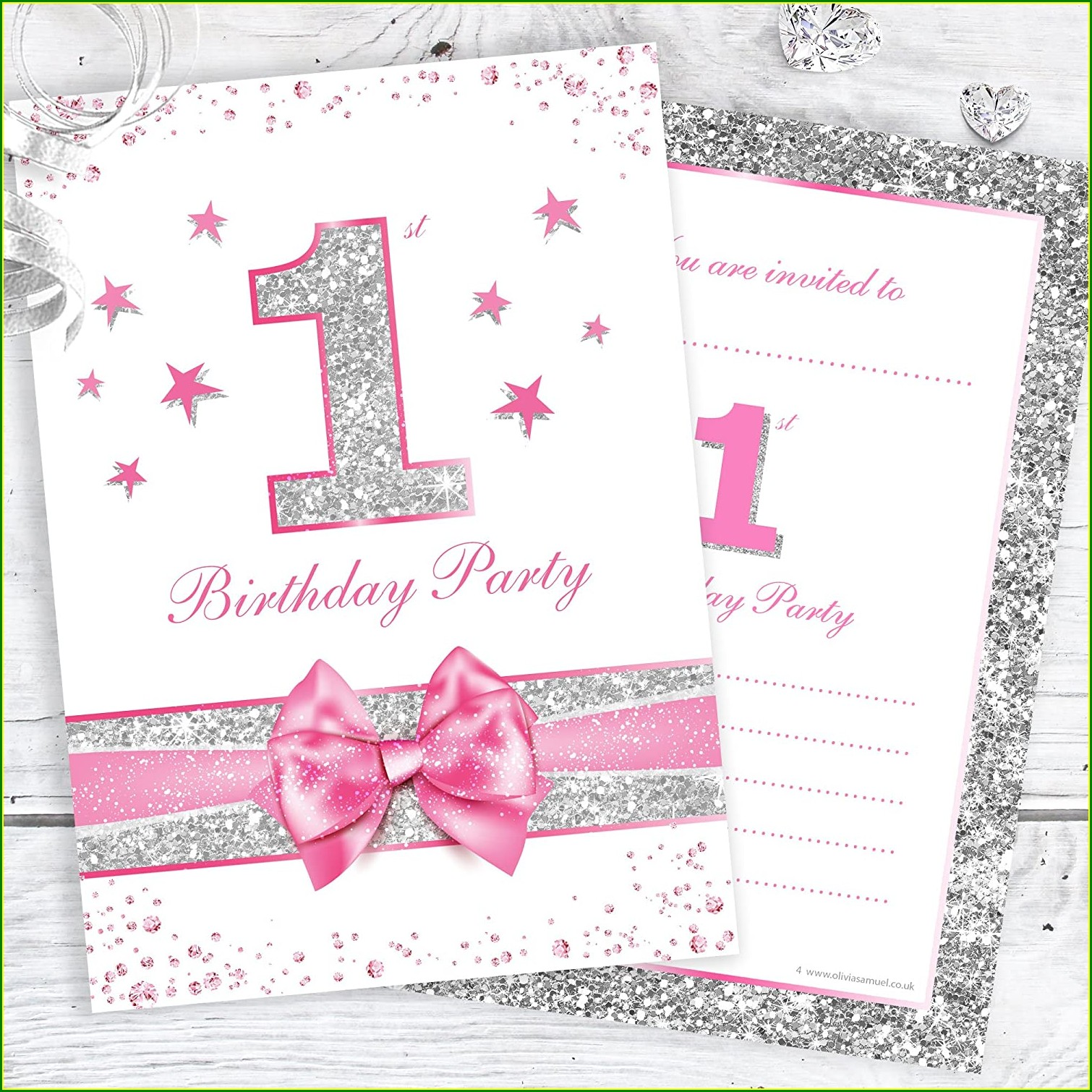 Electronic 1st Birthday Invitations