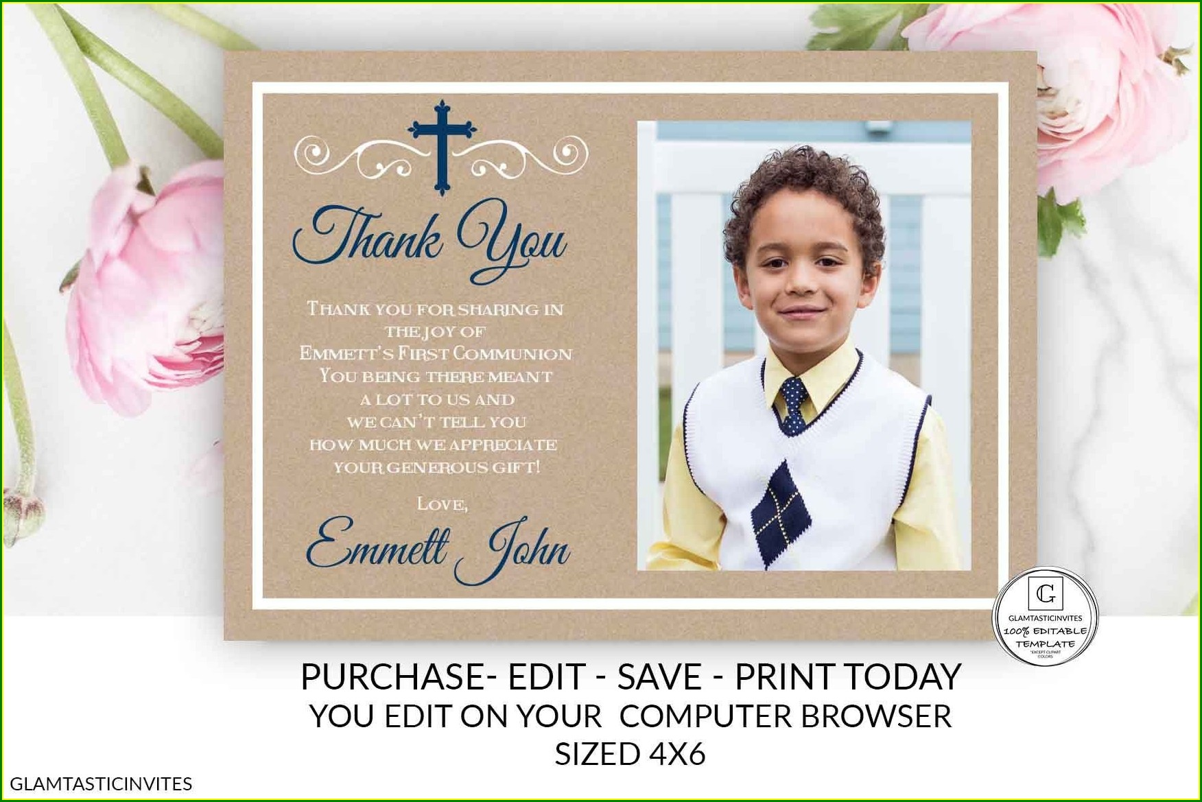 Electronic First Communion Invitations