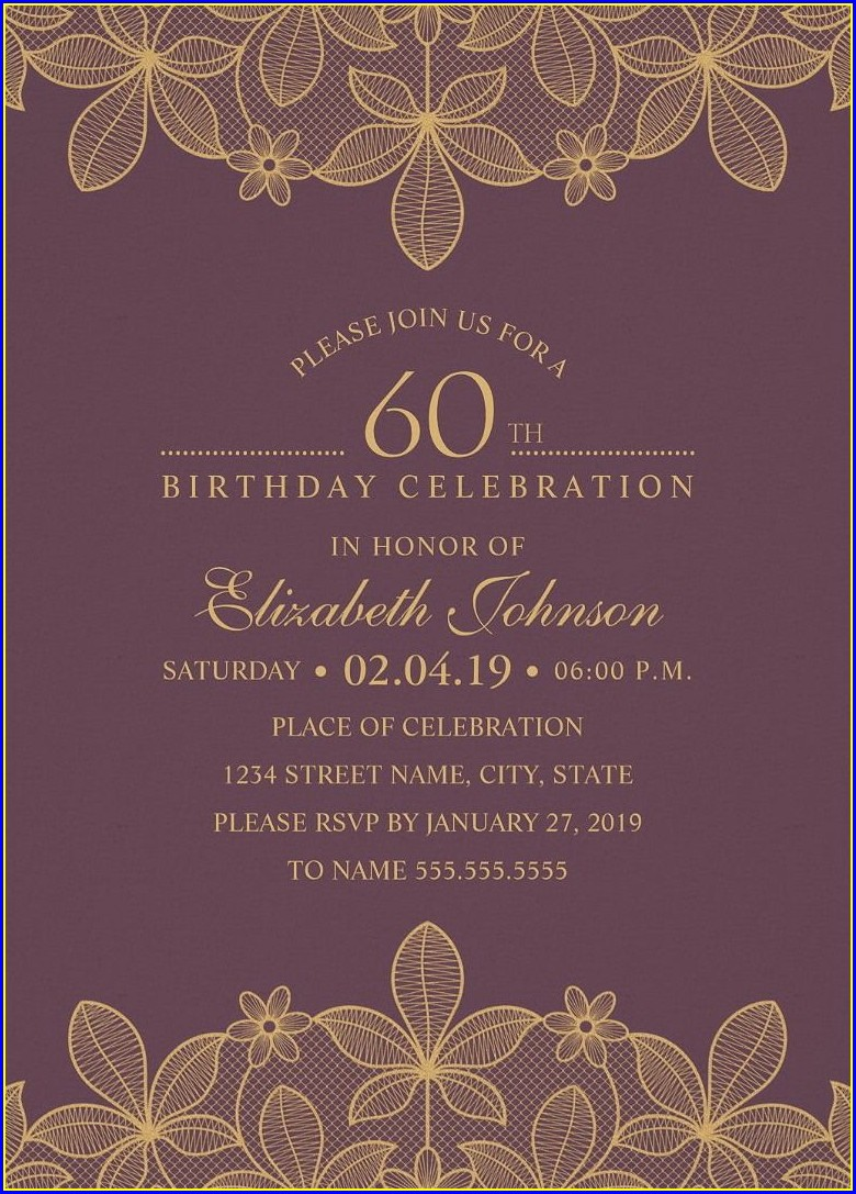 Elegant Birthday Invitation Card Background