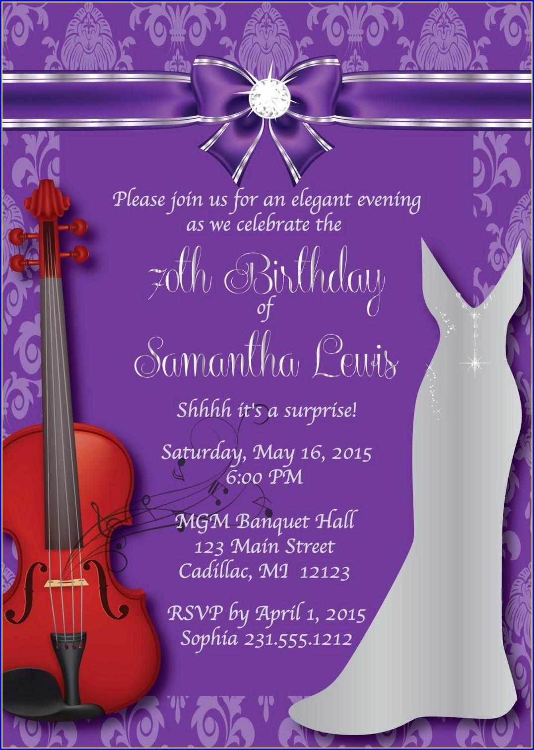 Elegant Birthday Invitation Wording