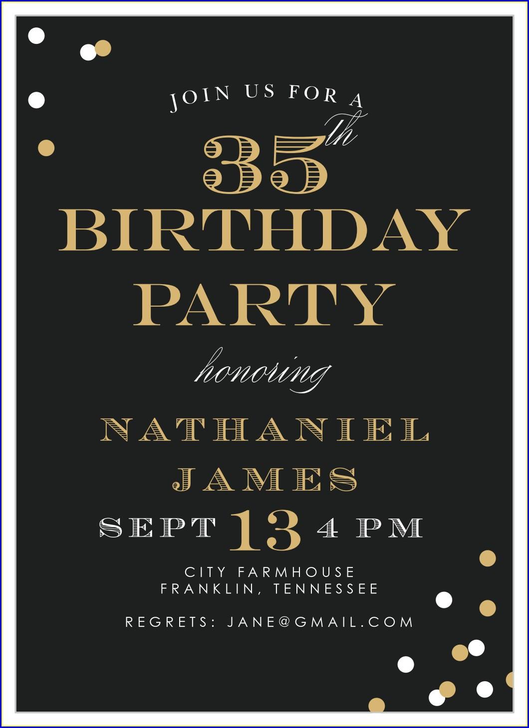 Elegant Birthday Invitations For Adults