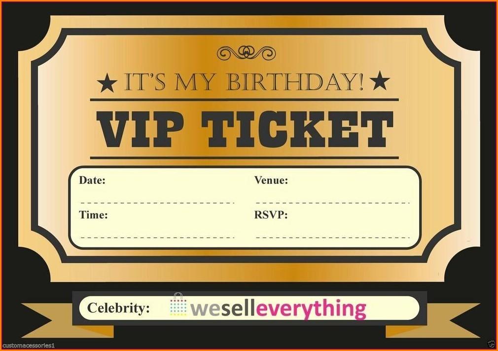 Elegant Blank Elegant Birthday Invitation Template